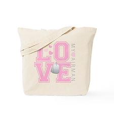 Love my Airman Tote Bag