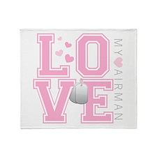 Love my Airman Throw Blanket