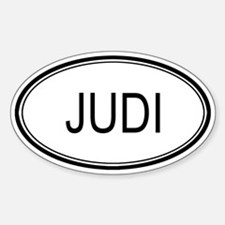 Judi Oval Design Oval Decal