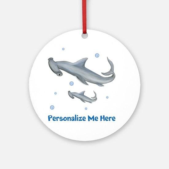 Personalized Hammerhead Shark Ornament (Round)