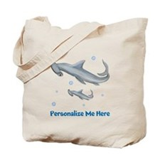 Personalized Hammerhead Shark Tote Bag