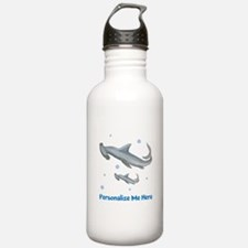 Personalized Hammerhead Shark Water Bottle