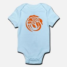 Orange Fish Design Body Suit