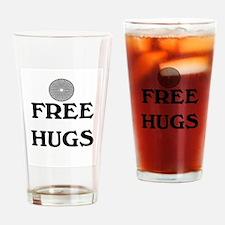 FREE HUGS Drinking Glass