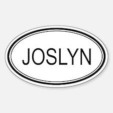 Joslyn Oval Design Oval Decal