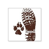 Dog paws car sticker Square