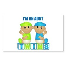 I'm An Aunt (TBB:blk) Rectangle Decal