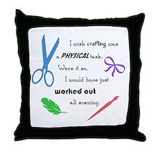 I wish crafting... Throw Pillow