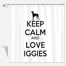 Keep Calm and Love Iggies Shower Curtain
