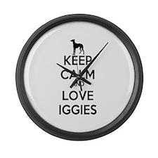 Keep Calm and Love Iggies Large Wall Clock