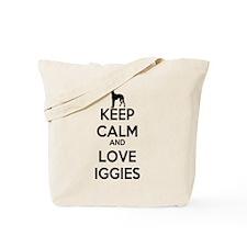 Keep Calm and Love Iggies Tote Bag