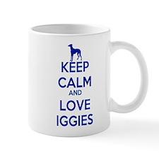 Keep Calm and Love Iggies (blue) Mug