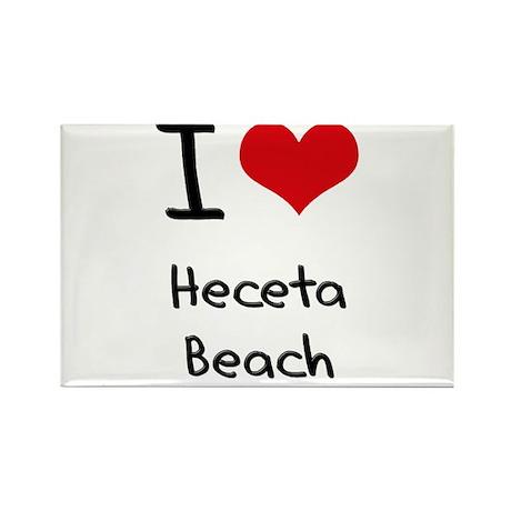 I Love HECETA BEACH Rectangle Magnet