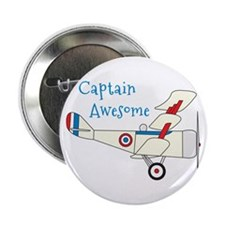 """Captain Awesome 2.25"""" Button"""