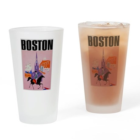 Vintage Boston MA Travel Drinking Glass