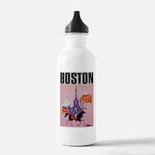 Vintage Boston MA Travel Water Bottle
