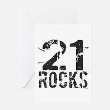 21st Birthday Rocks Greeting Card