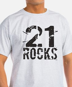 21st Birthday Rocks T-Shirt