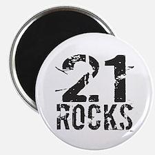 21st Birthday Rocks Magnet