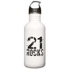 21st Birthday Rocks Water Bottle