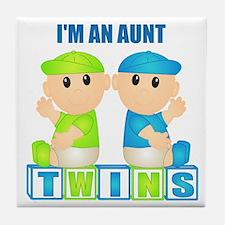 I'm An Aunt (BBB:blk) Tile Coaster