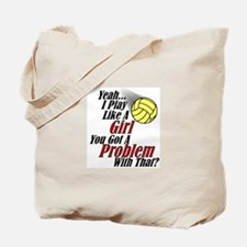 Play Like A Girl - Volleyball Tote Bag