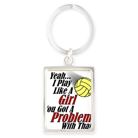 Play Like A Girl - Volleyball Portrait Keychain