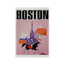 Vintage Boston MA Travel Rectangle Magnet (10 pack