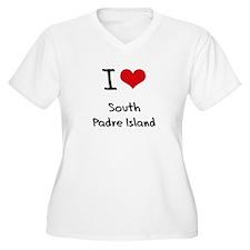I Love SOUTH PADRE ISLAND Plus Size T-Shirt