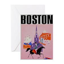 Vintage Boston MA Travel Greeting Card