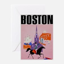 Vintage Boston MA Travel Greeting Card