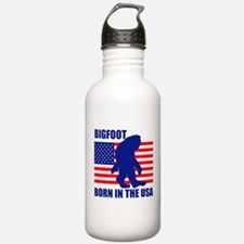 Bigfoot born in USA Water Bottle