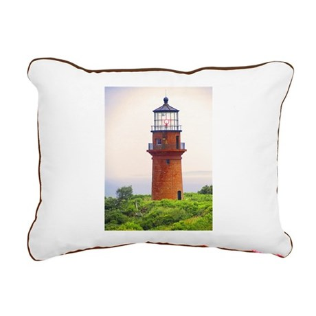 gay head lighthouse.jpg Rectangular Canvas Pillow