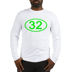 Number 32 Oval Long Sleeve T-Shirt