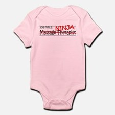 Job Ninja Massage Therapist Infant Bodysuit