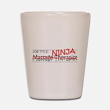 Job Ninja Massage Therapist Shot Glass
