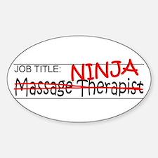 Job Ninja Massage Therapist Decal