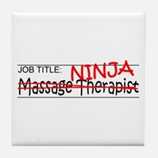 Job Ninja Massage Therapist Tile Coaster