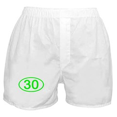 Number 30 Oval Boxer Shorts