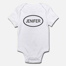 Jenifer Oval Design Infant Bodysuit