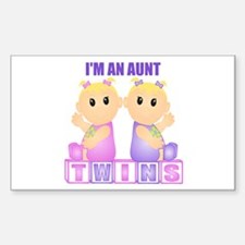 I'm An Aunt (BGG:blk) Rectangle Decal
