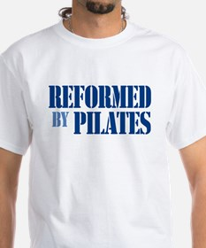 """""""Reformed by Pilates"""" T-Shirt (Blue Text) T-Shirt"""