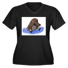 Platypus - ZooWhirlz Women's Plus Size V-Neck Dark