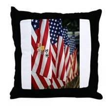 Flag and Medals Throw Pillow