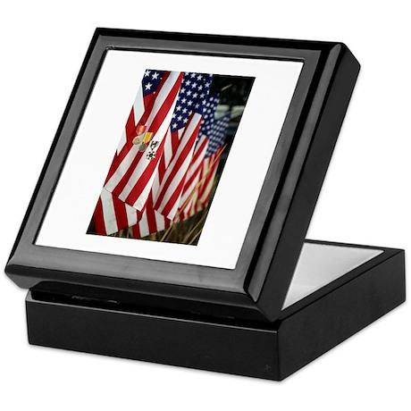 Flag and Medals Keepsake Box