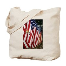 Flag and Medals Tote Bag