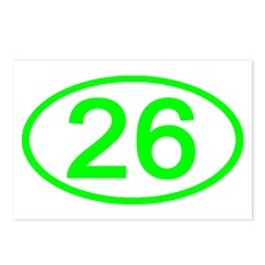 Number 26 Oval Postcards (Package of 8)