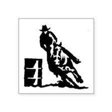 Barrel Racing Rectangle Sticker