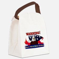 Don't mess with baldie! Canvas Lunch Bag