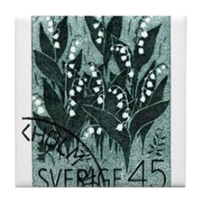 1968 Sweden Lily of The Valley Postage Stamp Tile